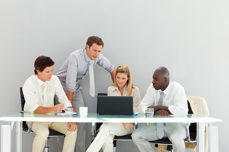 Business people interacting in a meeting Stock Photo - 10114827