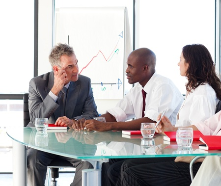 business partner: Business people interacting in office