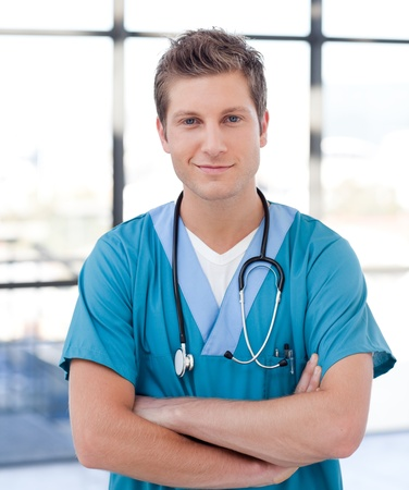 Beautiful nurse in a hospital Stock Photo - 10130102