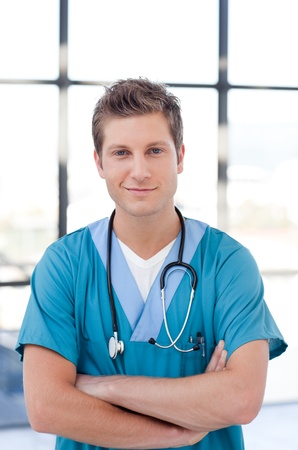 Confident young male nurse looking at the camera Stock Photo - 10129901