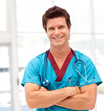 Portrait of a confident doctor Stock Photo - 10129671