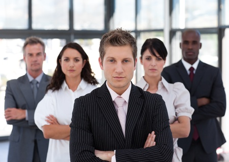 buisinessman: Portrait of a happy business team looking at the camera