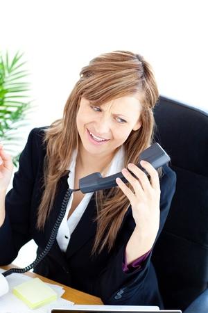 Confident businesswoman on phone Stock Photo - 10133671