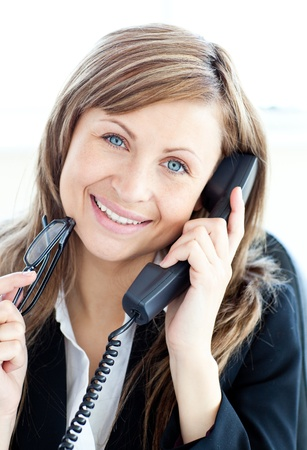 Portrait of a caucasian businesswoman on the phone Stock Photo - 10134456