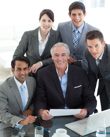 Portrait of a business group showing diversity  photo