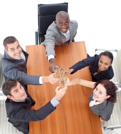 multi-ethnic business team celebrating an event Stock Photo - 10134067