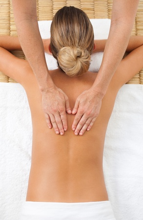 Young woman having a massage Stock Photo - 10131039
