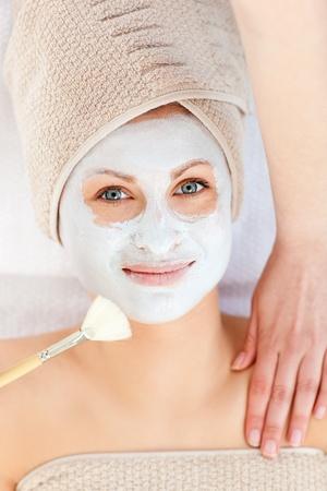captivating: Captivating woman receiving a beauty treatment
