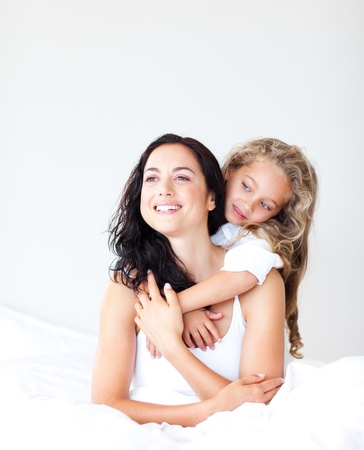 Blissful young mother with her little daughter Stock Photo - 10137179