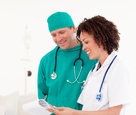 People working in a hospital  photo