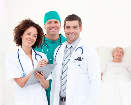 Doctors working together in a hospital  photo