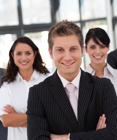 Young business team looking at the camera Stock Photo - 10162405
