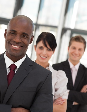 buisinessman: Portrait of a business team looking at the camera