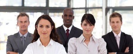 buisinessman: Portrait of business people looking at the camera