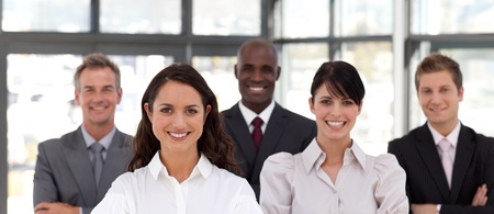 buisinessman: Portrait of cute business people looking at the camera  Stock Photo