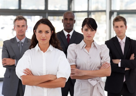 buisinessman: Portrait of diverse business people looking at the camera