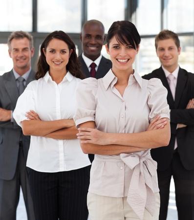 buisinessman: Portrait of joyful business people looking at the camera
