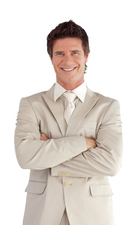 Portrait of a caucasian manager looking at the camera Stock Photo - 10136930