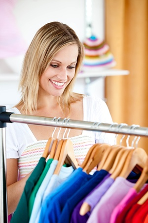 Blond woman is doing shopping Stock Photo - 10137242