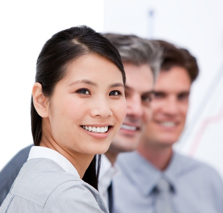 Portrait of a cute asian businesswoman at work Stock Photo - 10136547