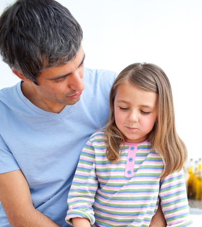 Little girl and her father having fun Stock Photo - 10137394