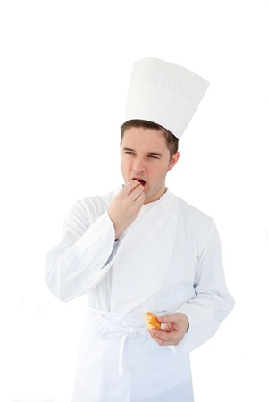 gastronome: Cook eating something