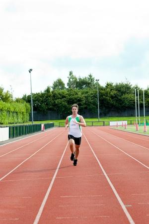 Male sprinter training Stock Photo - 10172440