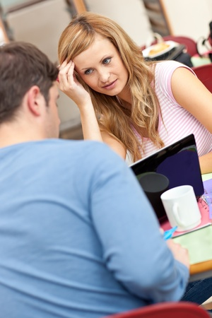 Portrait of two young people studying together Stock Photo - 10174303