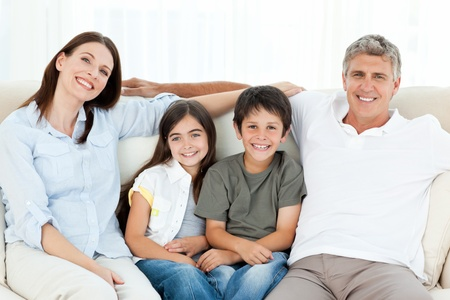 Portrait of a smiling family Stock Photo - 10175705