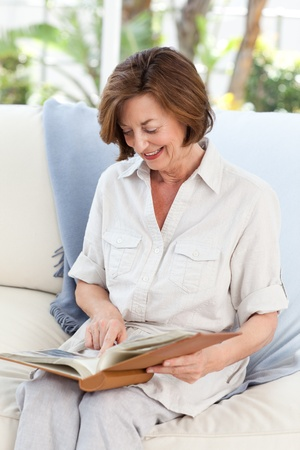 Senior woman looking at the camera with her zimmer frame Stock Photo - 10173515
