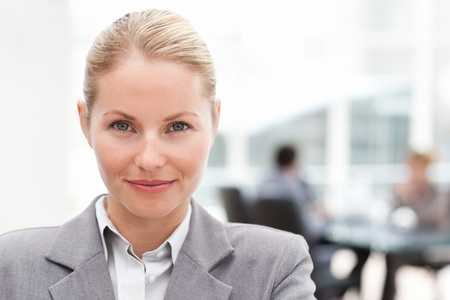 Attractive businesswoman in her office photo