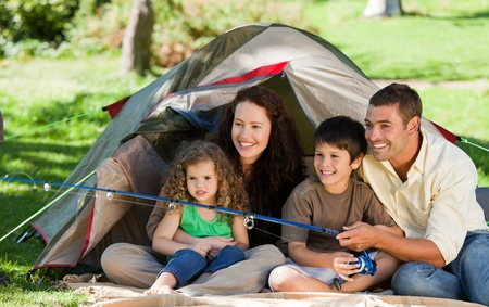 Joyful family fishing Stock Photo - 10172302