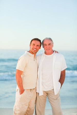 Father with his son at the beach Stock Photo - 10172190