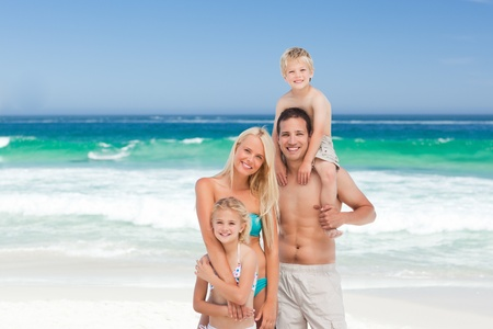 Happy family on the beach Stock Photo - 10170609