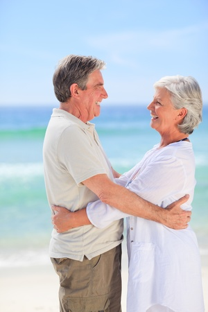 Elderly man embracing her wife Stock Photo - 10171000