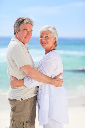 Elderly man embracing her wife Stock Photo - 10174790