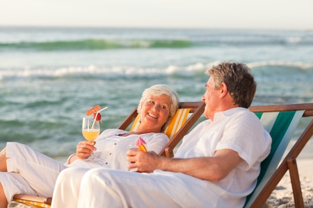 Senior couple drinking a cocktail Stock Photo - 10164389