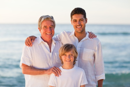 Portrait of a family photo