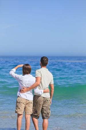 Couple in the sea Stock Photo - 10172295