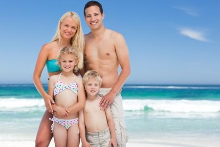 Happy family on the beach Stock Photo - 10183775