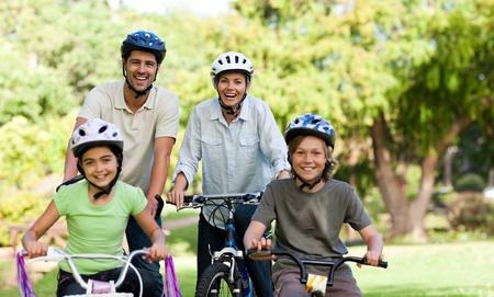 Family with their bikes Stock Photo - 10184007