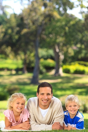 Father with his children Stock Photo - 10183682