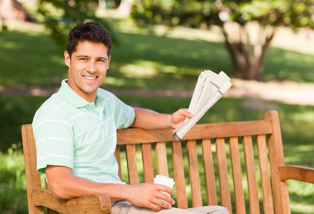 Man with a  paper Stock Photo - 10183586