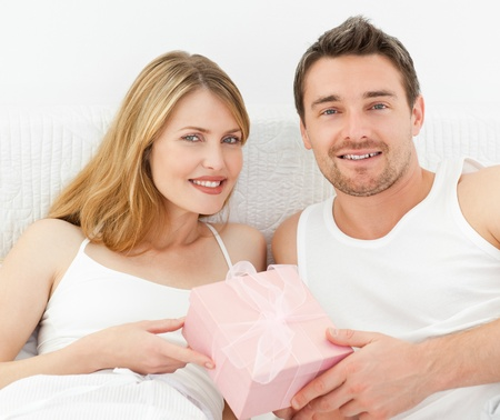 Smiling couple looking at the camera Stock Photo - 10196624