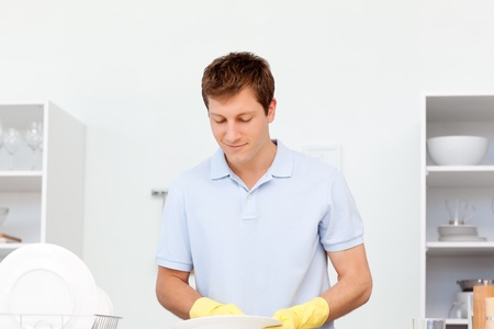 Man washing dishes  Stock Photo - 10194026