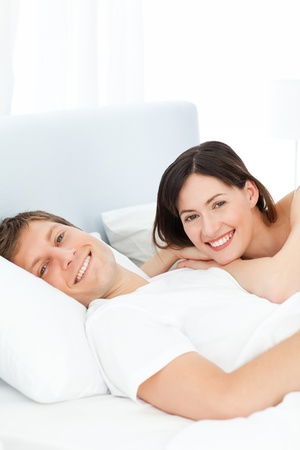 Cute lovers looking at the camera Stock Photo - 10195551