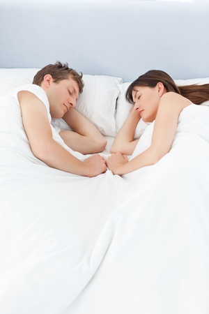 Peaceful lovers sleeping together photo