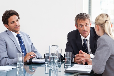 Coworkers during a meeting at work Stock Photo - 10191650