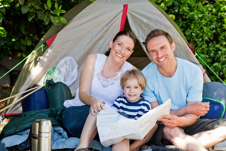 Family camping in the garden Stock Photo - 10190413