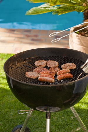 weenie: A barbecue in the garden
